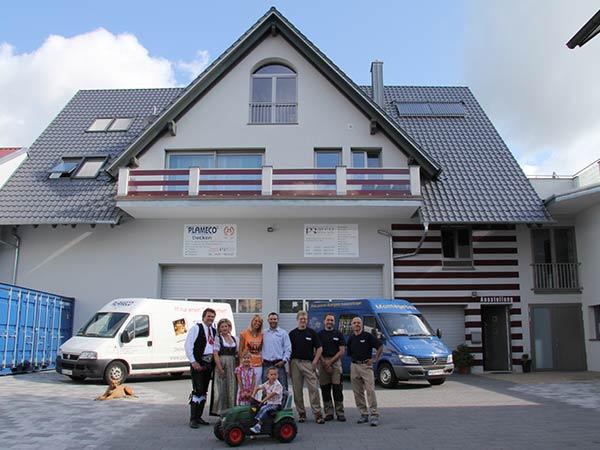 2007: Bau eines Wohnhauses mit Lagerhalle sowie eines Ausstellungsraumes